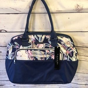 NWT Tahari Insulated Lunch Tote Navy/Floral